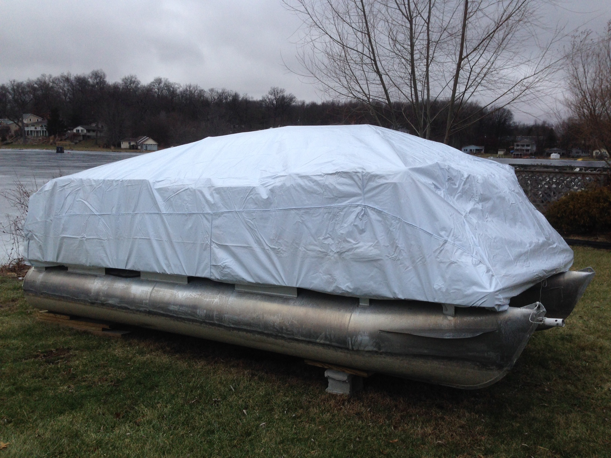 Transhield 24 ft. Pontoon Reusable Boat Cover for 4 ft ...