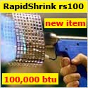 Shrink Wrap Gun: Rapid Shrink RS100 Heat Shrink Gun, with Shrink Wrap Video
