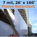 Flame Retardant Shrink Wrap, WHITE, 26 feet X 160 feet x 7 mil