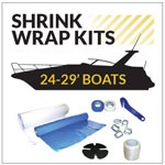 Medium Boat Shrink Wrapping Kit for 24-29 ft. Long Boats