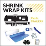 Traditional RV Shrink Wrapping Kit for 10 ft. Trailers up to 18 ft. Long