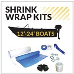 Small Boat Shrink Wrapping Kit for 12 -24 ft. Long Boats
