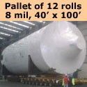 40' x 100'  8 mil Shrink Wrap - 12 rolls - Bulk Price