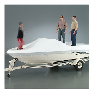 Transhield 21-23 ft. V-Hull Reusable Boat Cover | Shrink Wrap Fabric