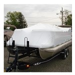 Transhield 18 ft. Pontoon Reusable Boat Cover for 4 ft. Support Pole