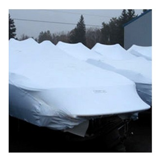 Transhield 19-21 ft. Deck Boat Reusable Boat Cover | Shrink Wrap Fabric